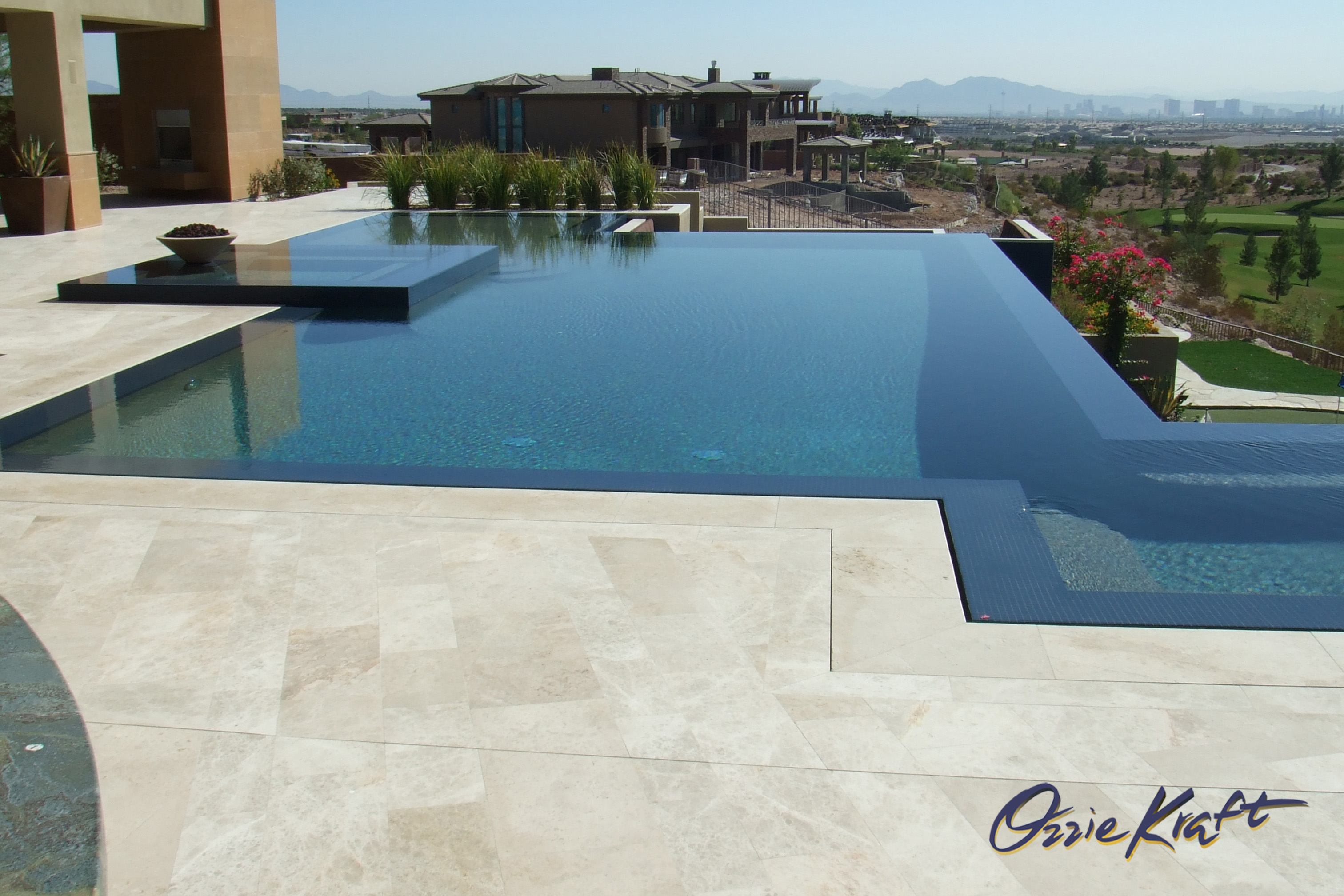 No edge infinity swimming pool ozzie kraft pools for Infinity swimming pools pictures