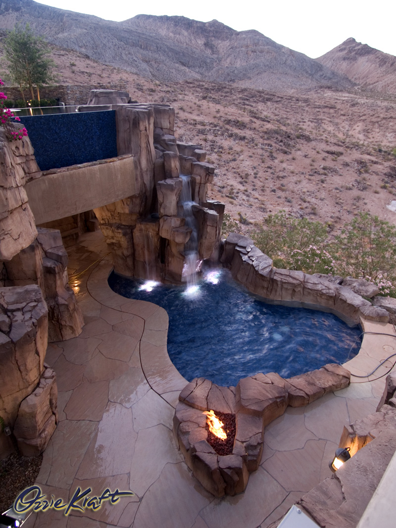 Three Level Waterfall Pool Ozzie Kraft Pools